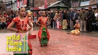 Girls from Sikkim perform