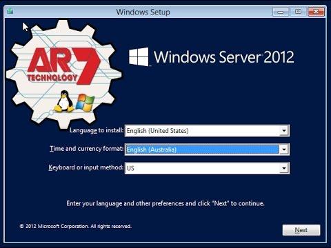 Instalação do Servidor Windows Server 2012