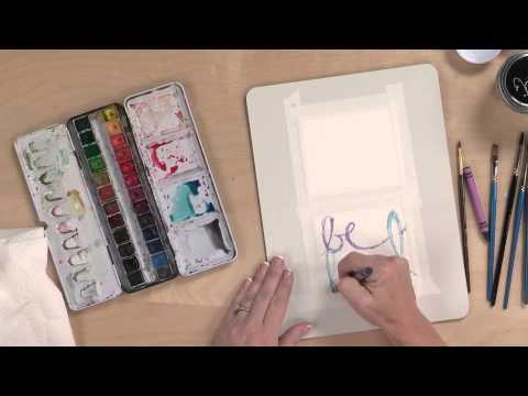 Preview | Creative Girl Workshop: Watercolor Words with Danielle Donaldson