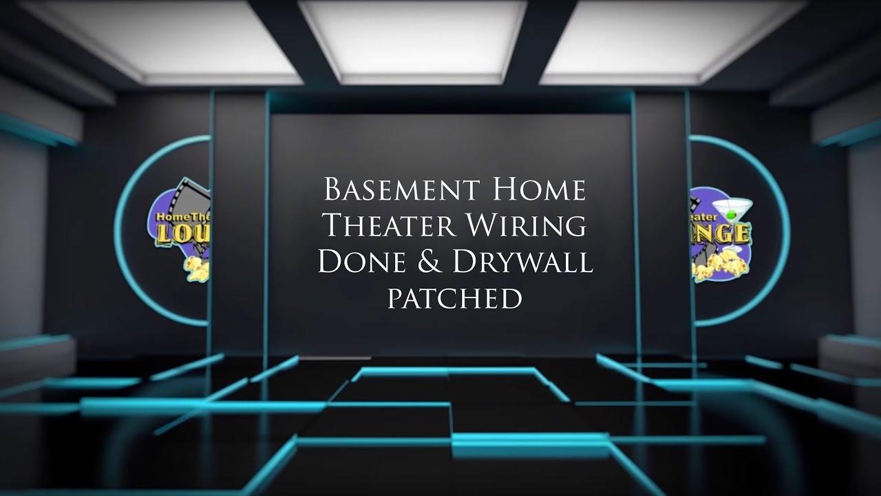 hight resolution of wiring basement theater