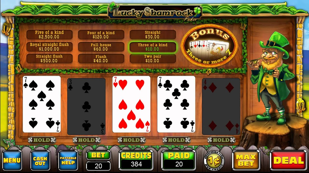 Shamrock sevens video poker download free best video poker machines in reno