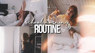 SCHOOL MORNING ROUTINE for high school 2018!!