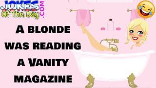 Funny Joke: A blonde was readi…