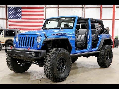 2016 Jeep Wrangler Rubicon Blue