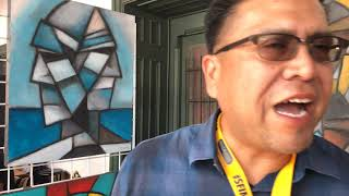 Santa Fe Indian Market 2018 - Artist Interviews | Karl Jim - Dine' - Painting