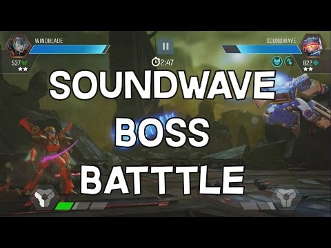 Soundwave Boss Battle - Alliance Mission Final Boss - Transformers: Forged To Fight