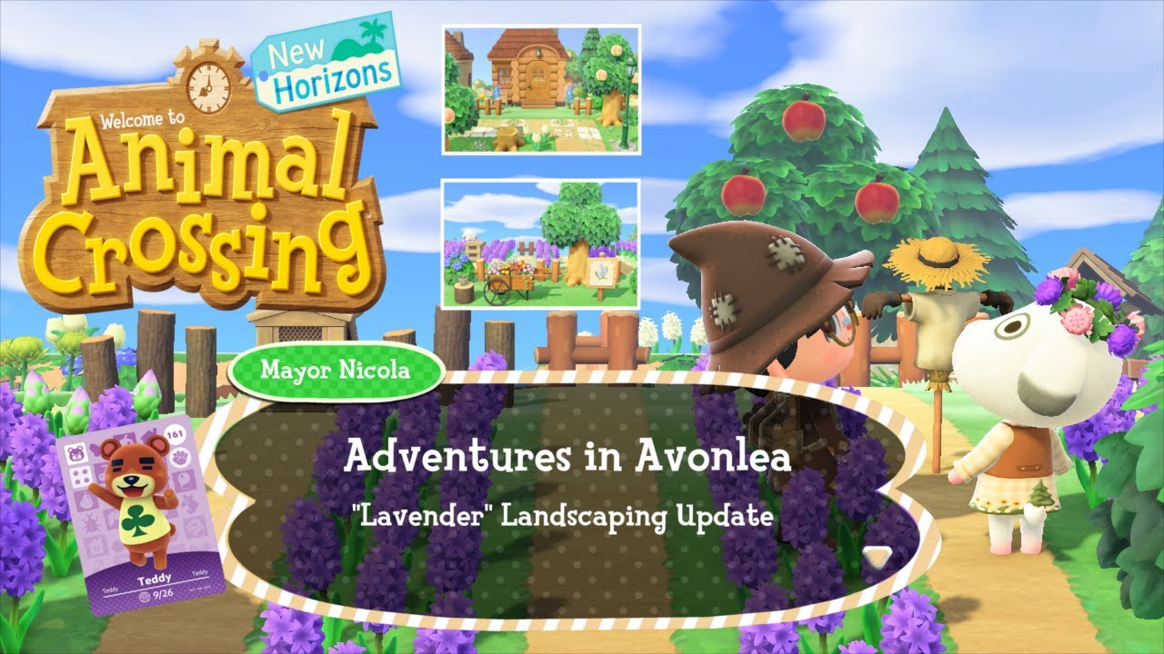 A Lazy Lavender Landscaping Update | Animal Crossing New ...
