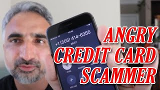 Scam Call Lower Credit Card Interest Funny Story & Made Indian Scammer Mad :) -Scammer Card Services