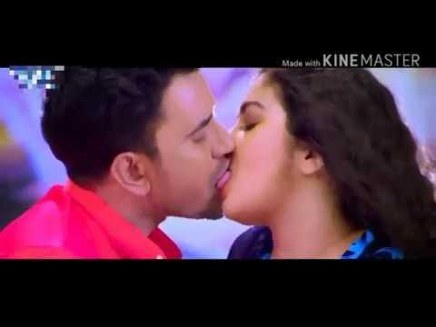 Amrapali Dubey smooch mouth kiss Dinesh lal  360 X 640