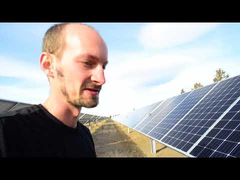 Solar panel energy facility