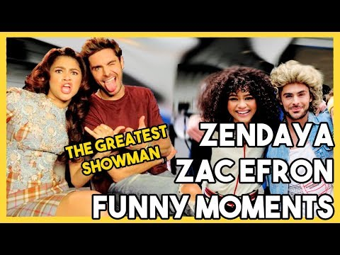 ZAC EFRON AND ZENDAYA  Funny Moments  THE GREATEST SHOWMAN