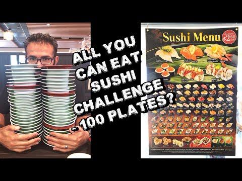 """All You Can Eat"" Sushi Challenge - Kura Revolving Sushi w/ WrecklessEating & Raina | FreakEating"