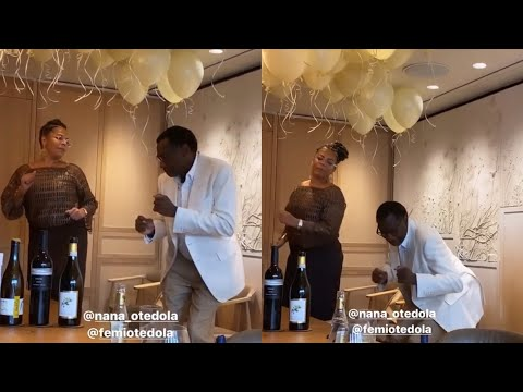 Billionaire, Femi Otedola Dances With Wife As He Celebrates Her Birthday