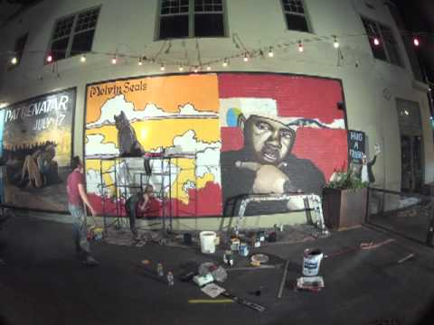 Joe Pagac Time Lapse Mural - Twista and Melvin Seals and the JGB