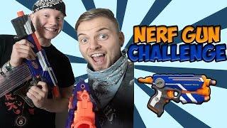 Nerf Gun Challenge - Tomohawk Vs Squid