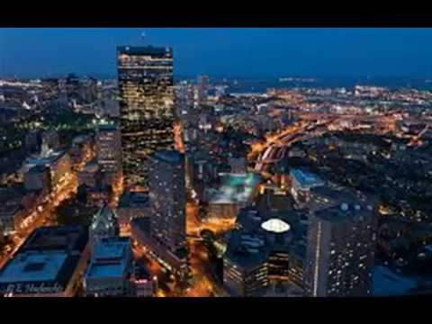 City of Boston, Massachusetts from Above in High Definition -usa