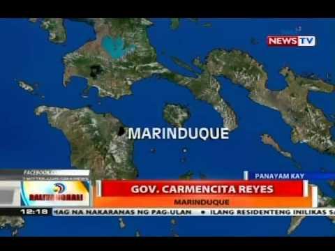 Panayam kay Gov. Carmencita Reyes kaugnay ng lagay ng pahanon sa Marinduque