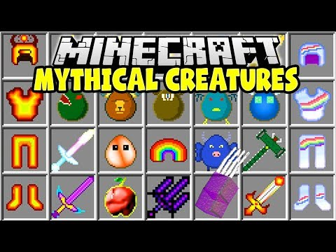 MINECRAFT MYTHICAL CREATURES MOD | HUGE MINECRAFT BOSSES, SPIKEZILLA, WINDIGO, CRABZILLA!