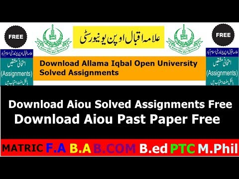 How To Download AIOU Solved Assignment & Past Paper For Free   Allama Iqbal Open University