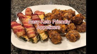 Bacon Jalapeno Poppers and Cheesy Sausage Balls Keto Low Carb Appetizers