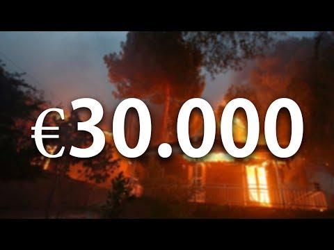 Σχεδόν €30.000 συγκεντρώθηκαν για τους πυρόπληκτους!