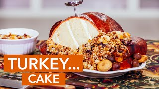 Watch me make a turkey out of CAKE this Thanksgiving! | How To Cake It with Yolanda Gampp