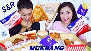 S&R MUKBANG (Pizza, Burger, Chicken, Fries, Baked Chicken Roll)