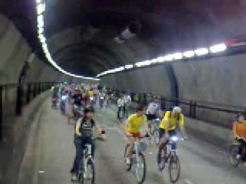 Bicicletada 28 de Fevereiro de 2009 - Tunel