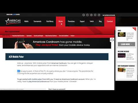 Americas Cardroom Bitcoin Review