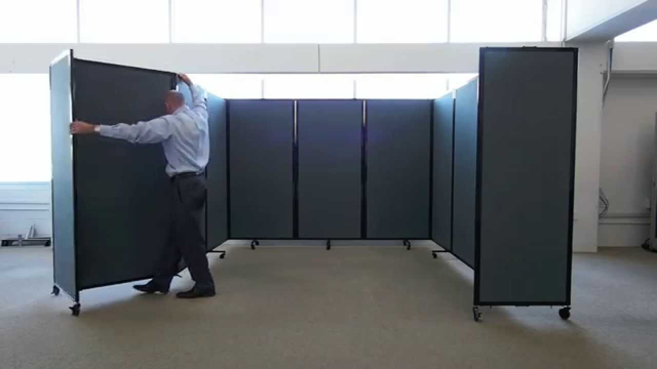 Versare Room Divider 360 - The Ultimate Portable Partition Wall - YouTube