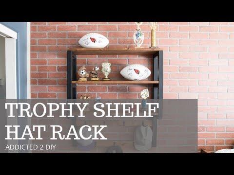 Trophy Shelf Hat Rack