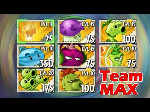 Plants vs Zombies 2 TEAM MAX Power UP vs Dark Ages Zombies