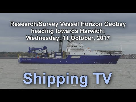 Research/Survey vessel Horizon Geobay heading towards Harwich, 11 oct 17