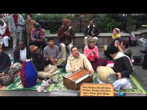 Krishna trance music at Union Square, NYC
