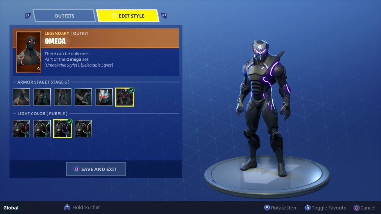 how to change colors of omega carbide skin new customize skins feature fortnite - fortnite edit character
