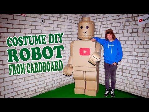 LEGO ROBOT COSTUME FROM CARDBOARD - DIY