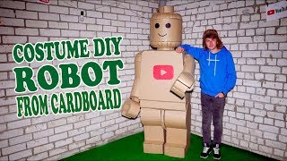 Lego Robot Costume From Cardboard Diy Youtube