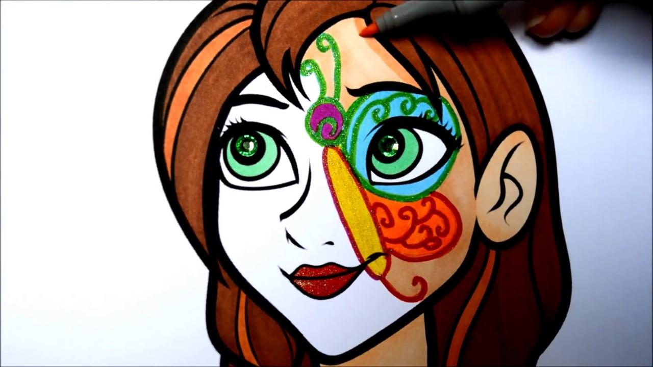 New Frozen Coloring Pages : Disney frozen anna coloring pages l face painting l kids coloring