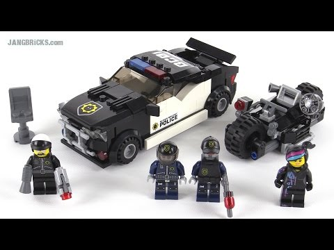lego movie bad cop car chase review set 70819 youtube