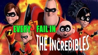 Every Fail In The Incredibles | Everything Wrong With The Incredibles, Mistakes and Goofs