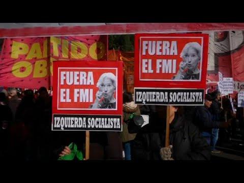 Protestos em Buenos Aires contra o FMI