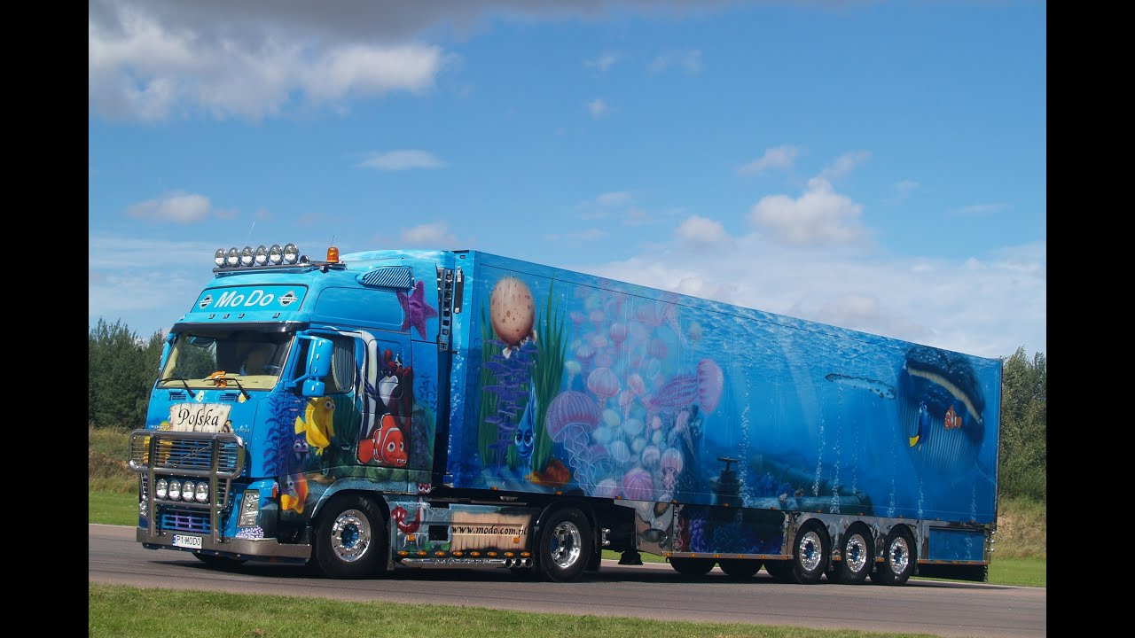 volvo fh outstanding airbrush truck finding nemo modo transport youtube. Black Bedroom Furniture Sets. Home Design Ideas