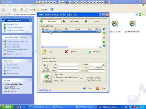 unir mp3 con MP3 Splitter & Joiner