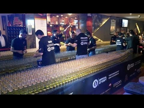 Dubai Bar Sets 'Domino Drop Shot' Record