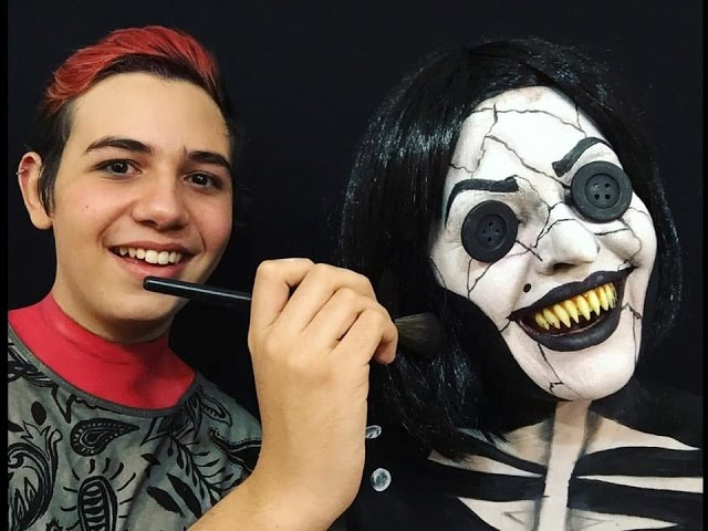 A Outra Mae Da Coraline Coraline S Other Mother Makeup Tutorial Youtube