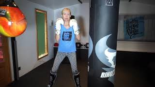 Punch bag work out1