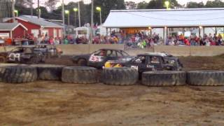 Fulton County Fair Compact Demolition Derby Heat 2