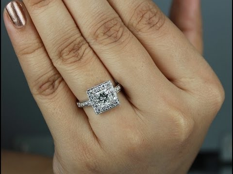 1 75 carats Vintage Style Princess Cut Diamond Solitaire Ring from