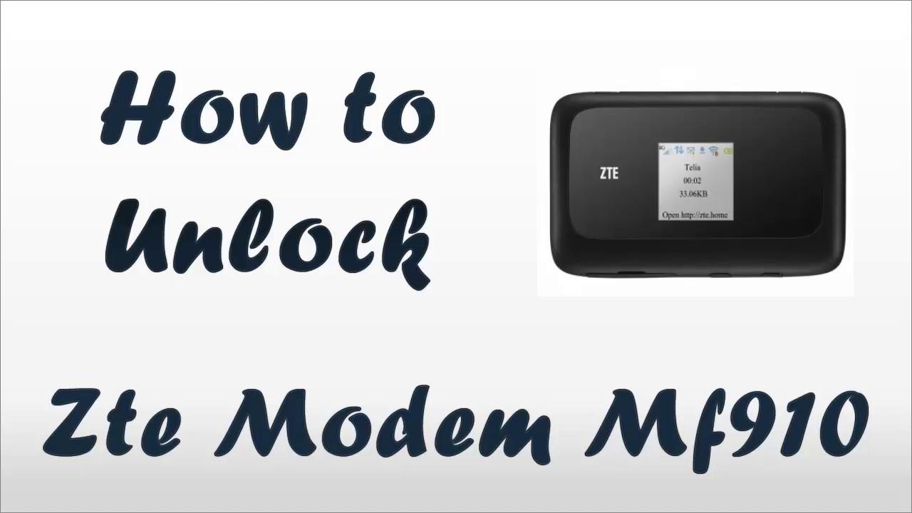 zte-mf910 unlock code
