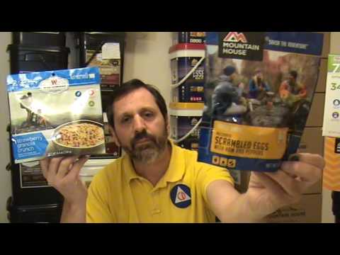 Difference between Mountain House and Wise Freeze Dried Food